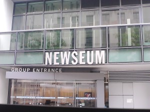 Entrance of the Newseum