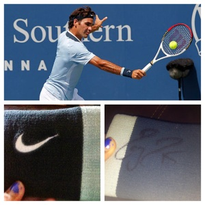 Federer's wristband!  Top image credit: theguardian.com