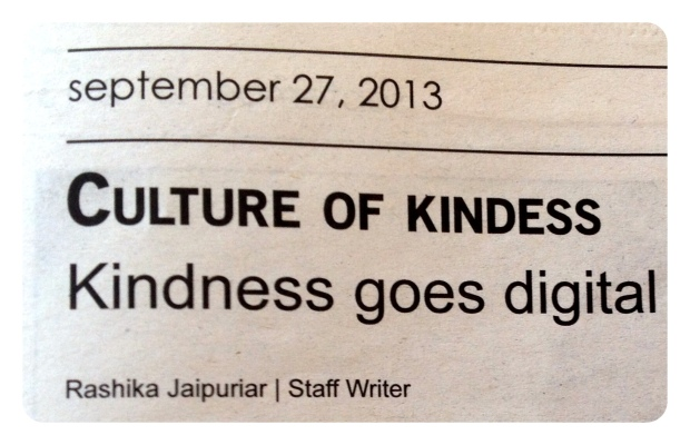 Culture of Kindness by Rashika Jaipuriar -- My first byline.