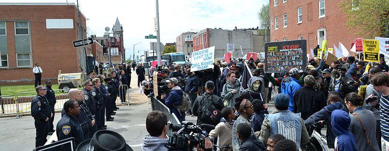 http://commons.wikimedia.org/wiki/File:FreddieGrayPrecinctProtest.jpg