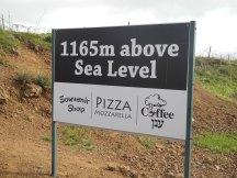 1165 M above sea level.