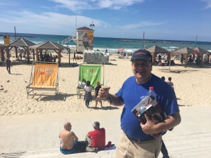 Professor Joel Kaplan enjoying the day at the beach.